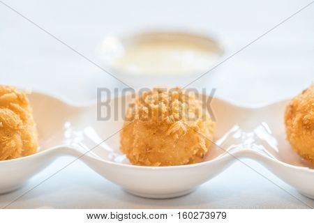 Chinese dim sum Fried Shrimp ball - Chinese groumet cuisine