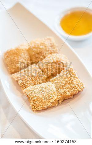 Chinese dim sum Fried Pork and shrimp EggRolls - Chinese groumet cuisine