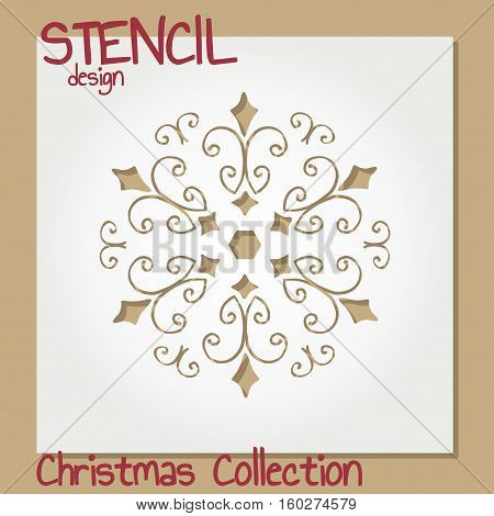 Set of Stencil design templates. Christmas collection. Vector illustration