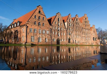 historical salt store houses in Lübeck Germany