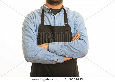 Young Man With Black Apron