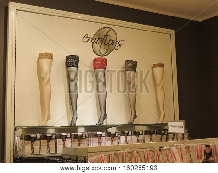 Hosiery Department In A Store