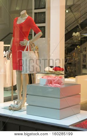 Woman Mannequin With Red Dress
