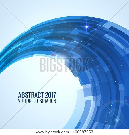 Illustration depicting abstract. Round image background for design. Vector explosion substance matter. Object with the image of the explosion. Color banner.