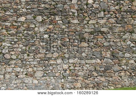 A Classic Stone Built Wall of an Ancient Building.