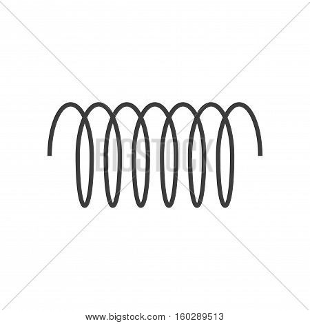 Spiral vector icon, swirl line outline simple style isolated on white background