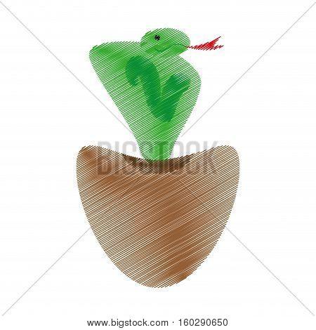 cobra indian charmed with basket vector illustration eps 10