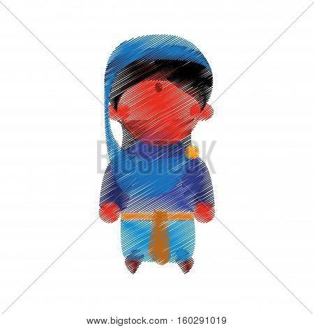 charatcer woman indian saree veil design vector illustration eps 10
