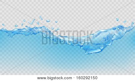 Transparent Water Wave. Transparency Only In Vector File