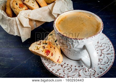 Traditional Christmas Baking Biscotti Cantucci