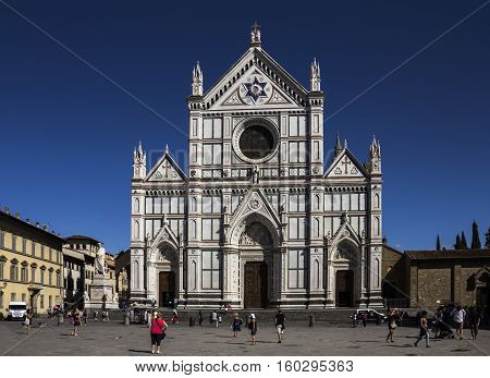 FLORENCE, ITALY : View of Basilica di Santa Croce (Basilica of the Holy Cross)