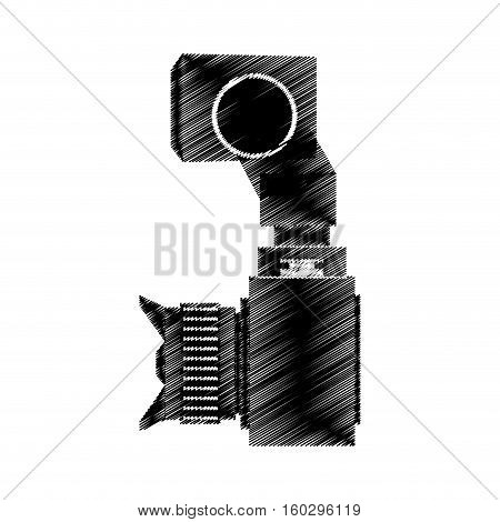 camera photo fron side view vector illustration eps 10