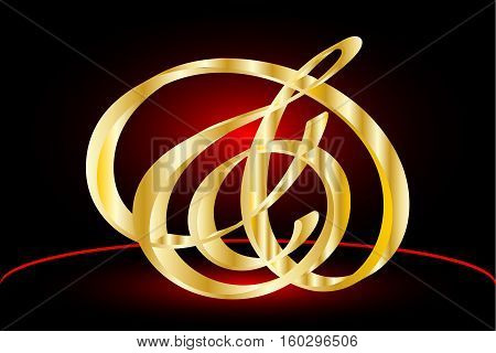 Abstract icons vector Ampersand , Elegant and stylish ampersands