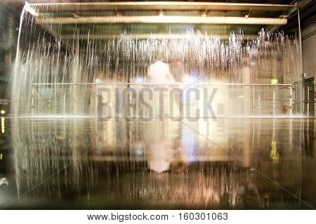 Water fountain in Guinness Storehouse Museum Dublin