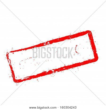 Stress Relief Red Rubber Stamp Isolated On White Background. Grunge Rectangular Seal With Text, Ink