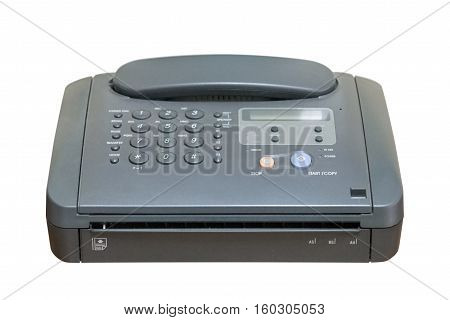 image of fax phone isolated on white background