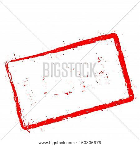 Loser Red Rubber Stamp Isolated On White Background. Grunge Rectangular Seal With Text, Ink Texture
