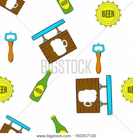 Ale pattern. Cartoon illustration of ale vector pattern for web
