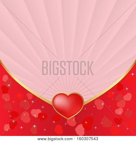 valentines background with hearts and copy space
