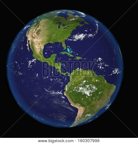 Globe north and south america illustration Mexico 3d earth