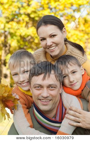 Portrait Of A Happy Nice Family