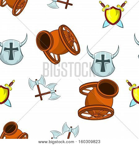 Medieval armor pattern. Cartoon illustration of medieval armor vector pattern for web