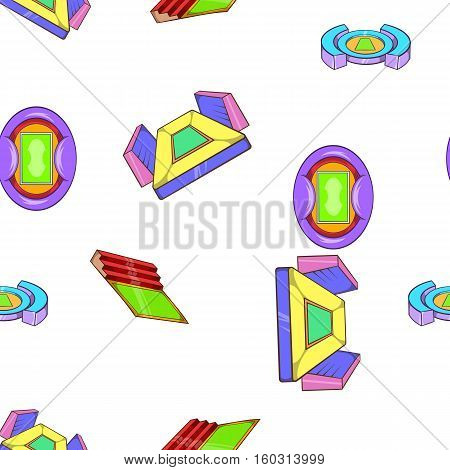 Sport complex pattern. Cartoon illustration of sport complex vector pattern for web