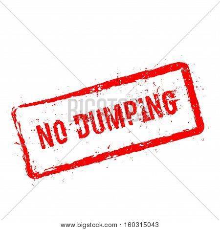No Dumping Red Rubber Stamp Isolated On White Background. Grunge Rectangular Seal With Text, Ink Tex