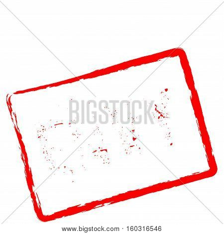 Envy Red Rubber Stamp Isolated On White Background. Grunge Rectangular Seal With Text, Ink Texture A