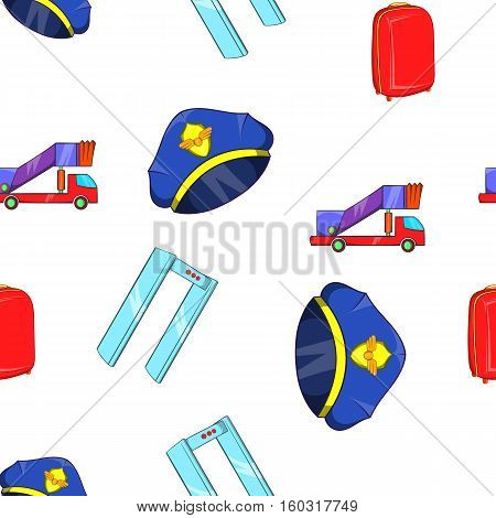 Check at airport pattern. Cartoon illustration of check at airport vector pattern for web