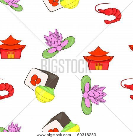Stay in China pattern. Cartoon illustration of stay in China vector pattern for web