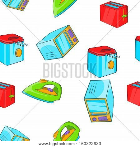 Devices for home pattern. Cartoon illustration of devices for home vector pattern for web