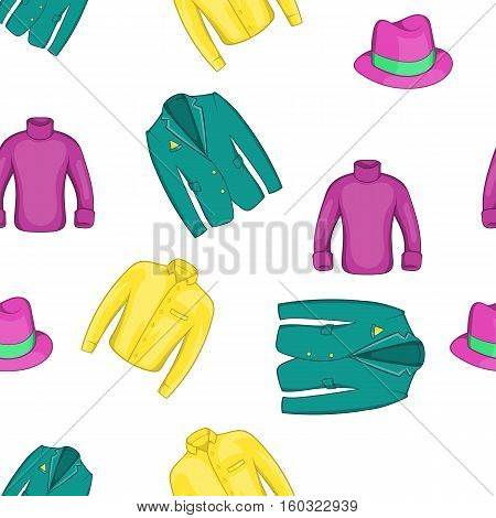 Outfits pattern. Cartoon illustration of outfits vector pattern for web