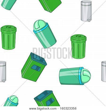 Garbage pattern. Cartoon illustration of garbage vector pattern for web