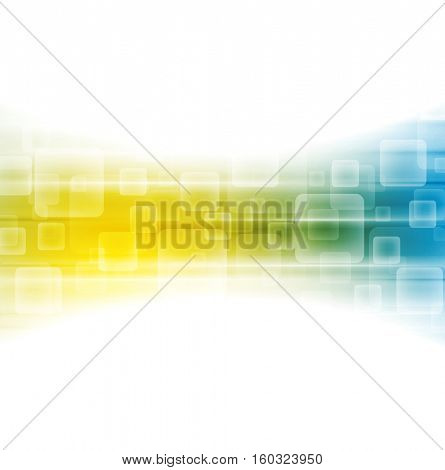 Yellow blue shiny tech background