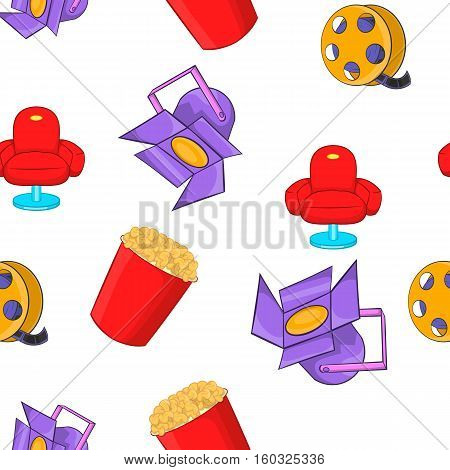 Motion picture pattern. Cartoon illustration of motion picture vector pattern for web