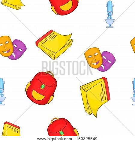 Academy pattern. Cartoon illustration of academy vector pattern for web