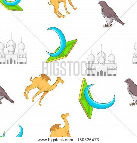 UAE country pattern. Cartoon illustration of UAE country vector pattern for web