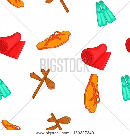 Journey to sea pattern. Cartoon illustration of journey to sea vector pattern for web