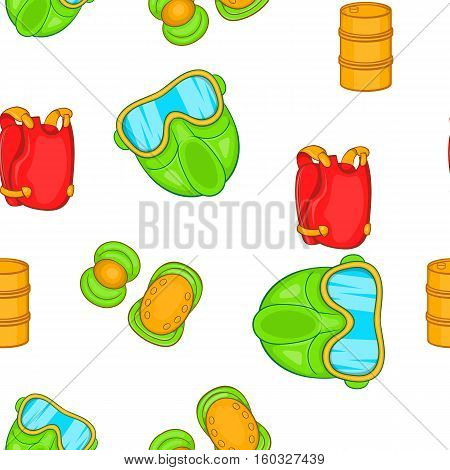 Shooting paintball pattern. Cartoon illustration of shooting paintball vector pattern for web