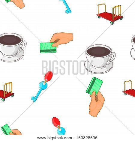 Hostel pattern. Cartoon illustration of hostel vector pattern for web