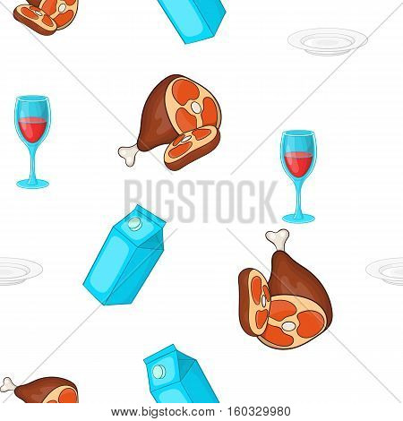 Calorie food pattern. Cartoon illustration of calorie food vector pattern for web