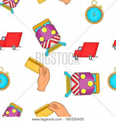 Shipment pattern. Cartoon illustration of shipment vector pattern for web