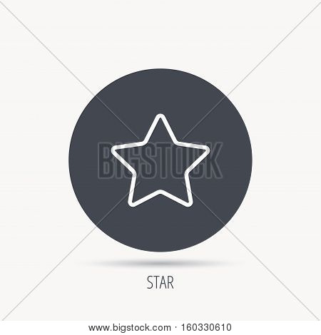 Star icon. Add to favorites sign. Astronomy symbol. Round web button with flat icon. Vector