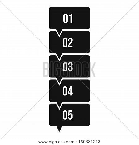 Five steps infographic icon. Simple illustration of five steps infographic vector icon for web design