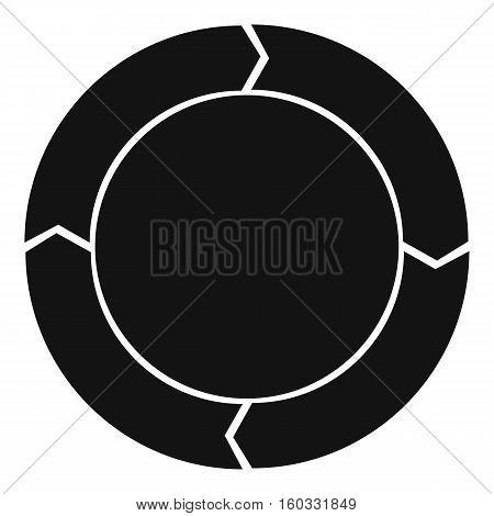 Diagram pie chart with arrows icon. Simple illustration of pie chart with arrows vector icon for web design