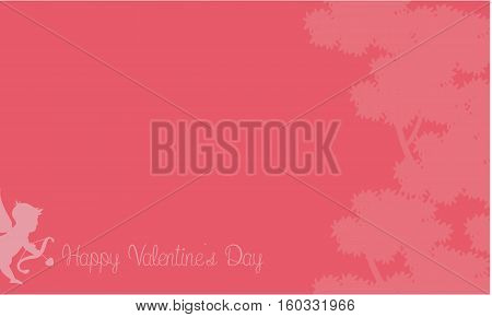 Illustration of cupid with tree backgrounds collection stock