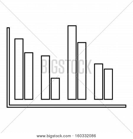 Financial analysis chart icon. Outline illustration of financial analysis chart vector icon for web design