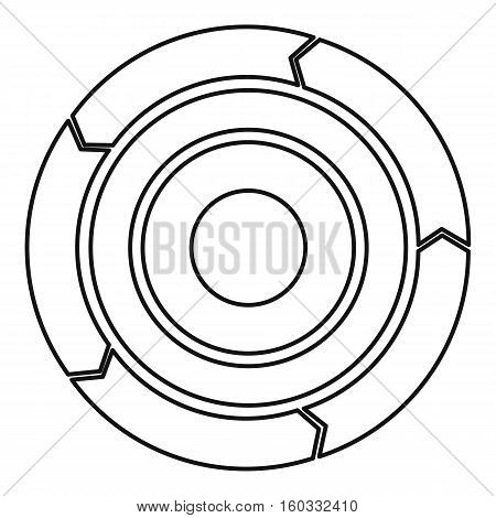 Chart pie with arrows icon. Outline illustration of chart pie with arrows vector icon for web design