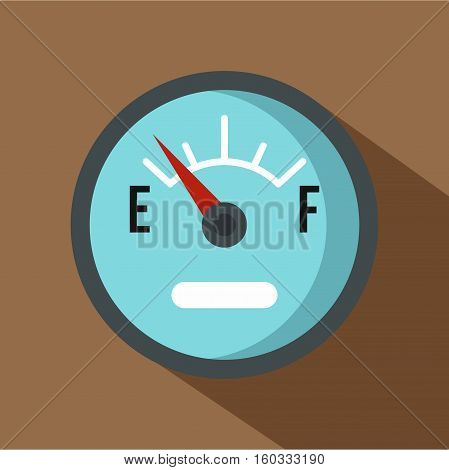 Automobile fuel sensor icon. Flat illustration of automobile fuel sensor vector icon for web isolated on coffee background